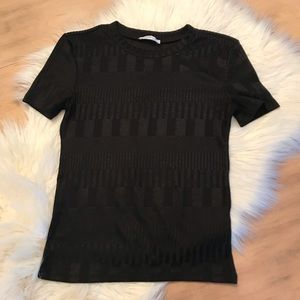 NWOT ZARA Black Fitted Top, Soft Material Size Sm